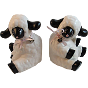 Vintage Baby Sheep Bookends by Royal Orleans Japan Book Ends
