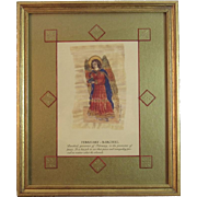 Carol McCrady Archangel Barchiel February Signed Print Barachiel Religious