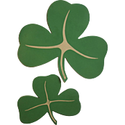 16 Vintage Shamrock Decorations Made in USA Cardboard St. Patrick's Day