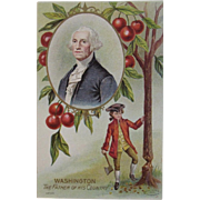 1908 Taggart George Washington Chopping down the Cherry Tree Postcard Unused Embossed