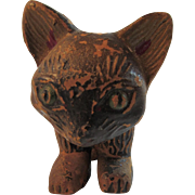 Twistum Toy Articulated Jointed Cat Wood with Original Paint