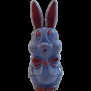 Purple Easter Bunny Rattle Hard Plastic