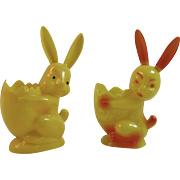 2 Happy Easter Bunny Candy Containers one Rosbro