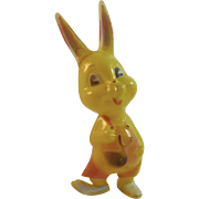 Dancing Easter Bunny Vintage Hard Plastic