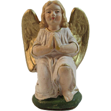 German Papier Mache Kneeling Angel for Nativity Scene or Creche
