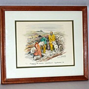 Dipping the Lambs - B. Maloney - The Wee Mad Road - Achiltibuie - Framed Print 6/50