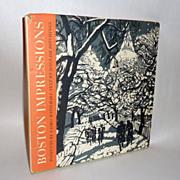 1970 H/C Book- Boston Impressions Woodcuts by Matsubara & Hitchings