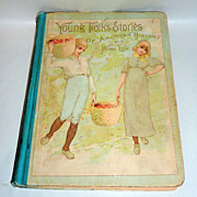 Antique 1889 H/C PANSY book Young Folk Stories - Illustrated American History