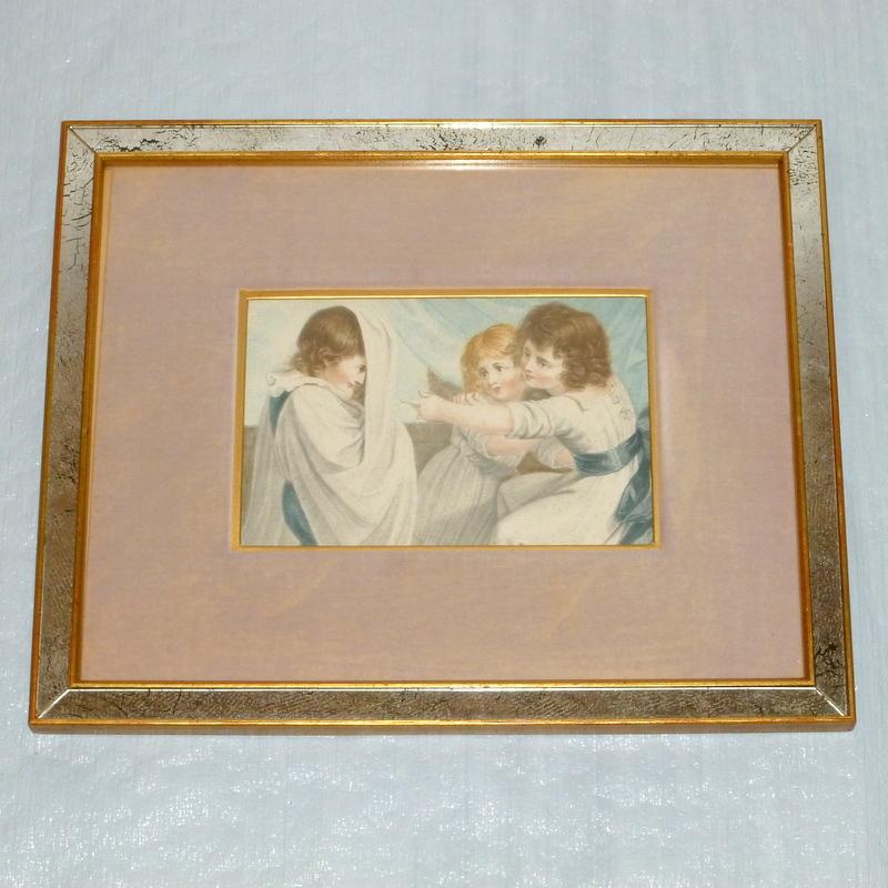 Antique 1791 Framed Engraving Plate XXXV - A Ghost / L'Apparition -Schiavonetti