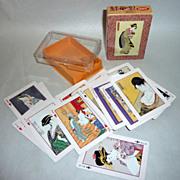 Vintage 1960's UKIYOE Bijinka Japanese Playing Cards Wood Cut Images