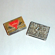 Vintage 1930's Kirk & Son Sterling Floral Relief Match Box Safe Holder