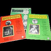 3 Vintage 1950's Hoedown Hillbilly & Country Western Music Stars Magazine