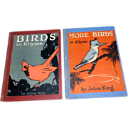 2 H/C Books signed Julius King - More Birds in Rhyme - 1920's 1st editions