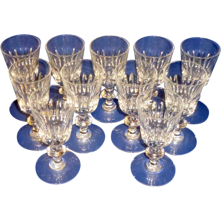 11 Vintage Hawkes Ramsey 7334 Cut Crystal Cordial / Liqueur Glasses