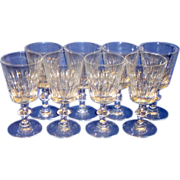 "8 Vintage Hawkes RAMSEY 7334 Cut Crystal 7"" Water / Wine Glasses"