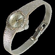 Beautiful Vintage 18K White Gold Bucherer Ladies Watch with Diamonds