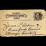 Rare 1880 Historical Political Postcard Republicans Democrats Greenbackers History