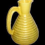 """Vintage 1957 C. Miller Golden Beehive 9.5"""" Retro Jug Carafe Pitcher Pottery"""