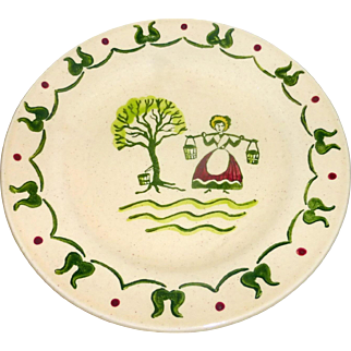 11 Vintage 1950 Hand Pntd Metlox Bread Plates Poppytrail Homestead Provincial
