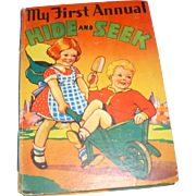 Vintage 1936 Rare Children's Book - My First Annual Hide and Seek - Whitman Pub.