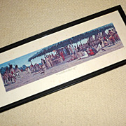 "Vintage 27"" long Framed Print Traverse des Sioux Minnesota Land Trade"