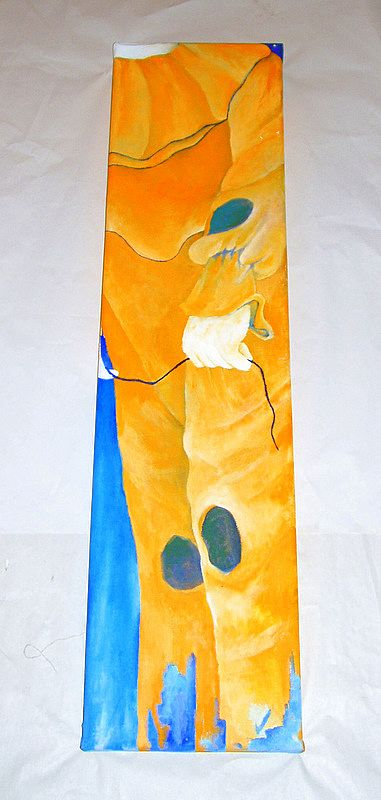 "Yellow Clown Child with Balloon - Contemporary Oil on Canvas 39"" Painting"