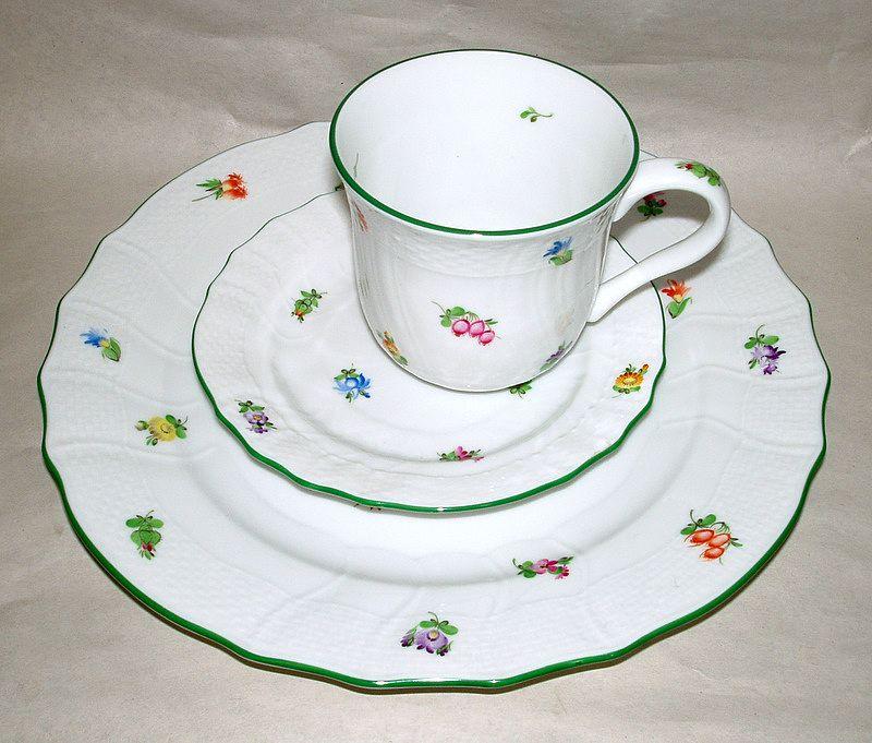 Gorgeous Herend Hungary Plate / Tea Mug / Saucer LINDSEY