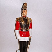 Vintage Sicilian Gold Mandorcrema Italy Royal Guard Porcelain Marsala Bottle