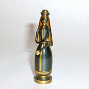 """Fabulous 1950's Hans Teppich Bronze + Brass JOSEPH 2"""" miniature"""