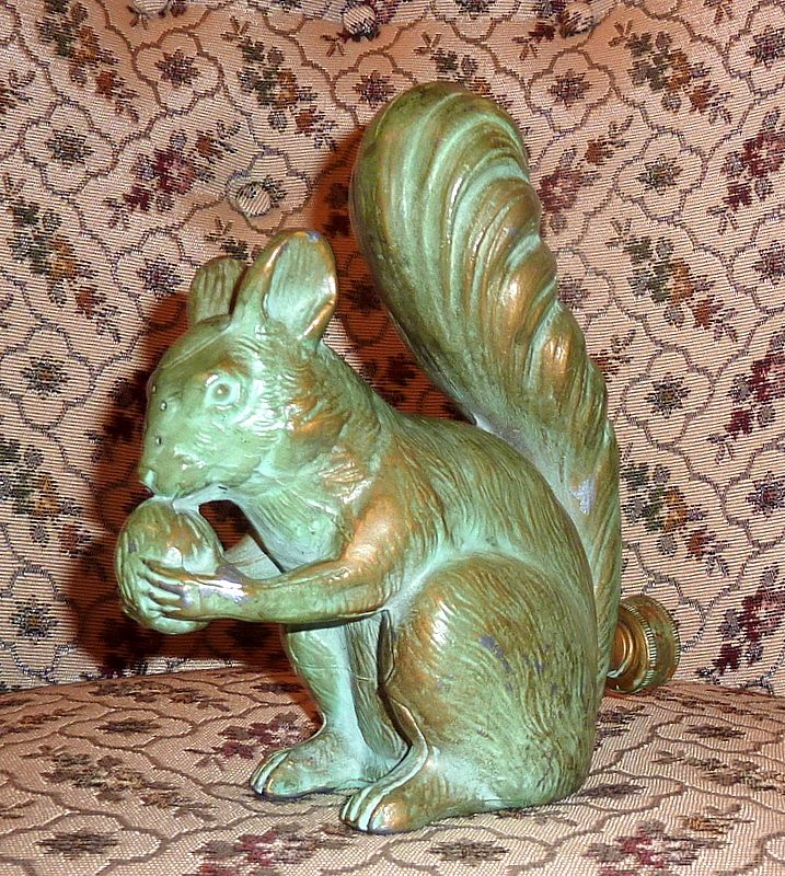 Rare Antique Metal Figural Squirrel Lawn Sprinkler