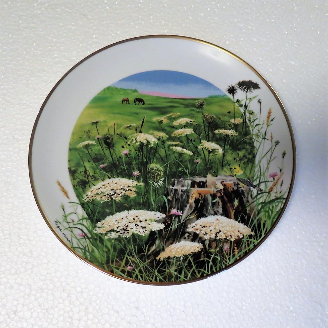 Queen Anne's Lace Wildflowers of the South Limited Edition Collector Plate