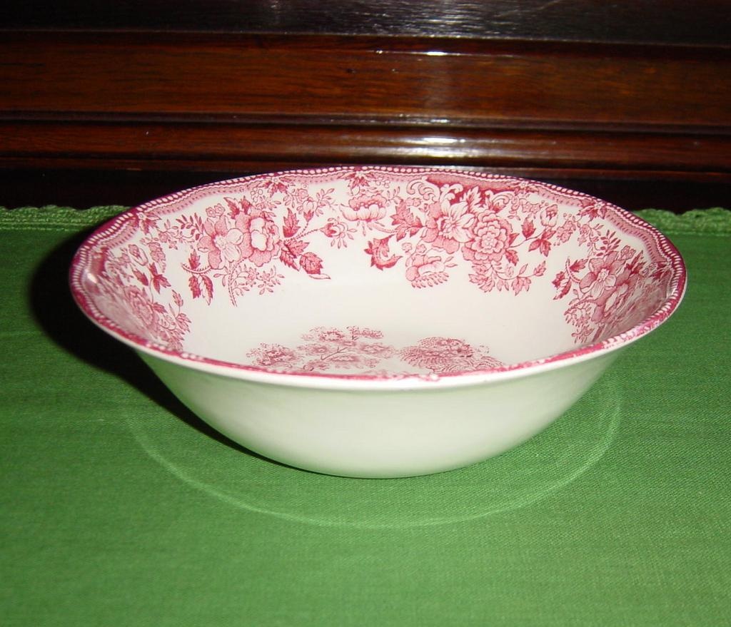 Alfred Meakin Red Transferware Tonquin Cereal Bowl