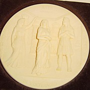 Ivory Alabaster Limited Edition Collector Plate of Aida