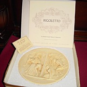 Ivory Alabaster Limited Edition Collector Plate of Rigoletto