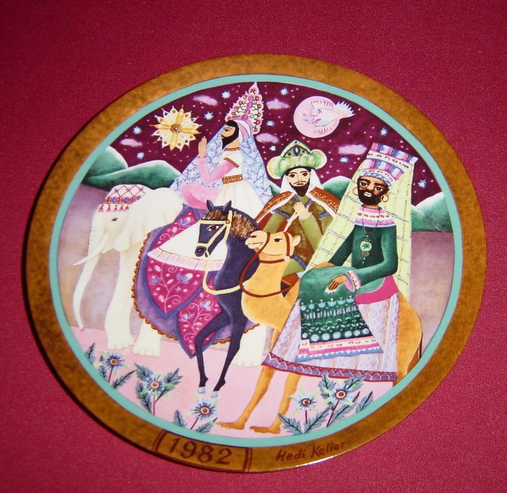 'Following the Star' Limited Edition Collector Plate by Hedi Keller of Konigszelt Bavaria