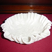 Imperial Satin Milk Glass Rose Bowl - Red Tag Sale Item