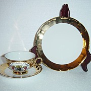 Schedel Bavaria Gold Encrusted Berlin Porcelain Teacup Set