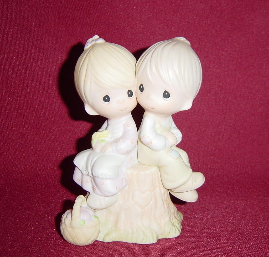 Precious Moments Love One Another Jonathan & David Figurine