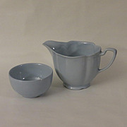 Johnson Brothers Greydawn Creamer and Open Mini Sugar