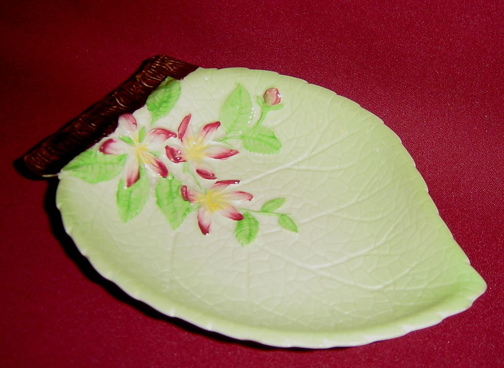 Carlton Ware Apple Blossom Leaf Dish