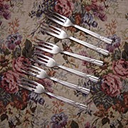 Set of 6 Athenian Stay Brite Stainless Steel Pastry Forks