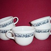 Corning Glass Old Town Blue Coffee Cups