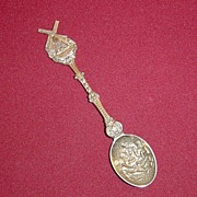 Silverplate Souvenir Spoon of Wipwatermolen Holland with Windmill