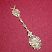 Silverplate Souvenir Spoon of Wipwatermolen Holland with Windmill