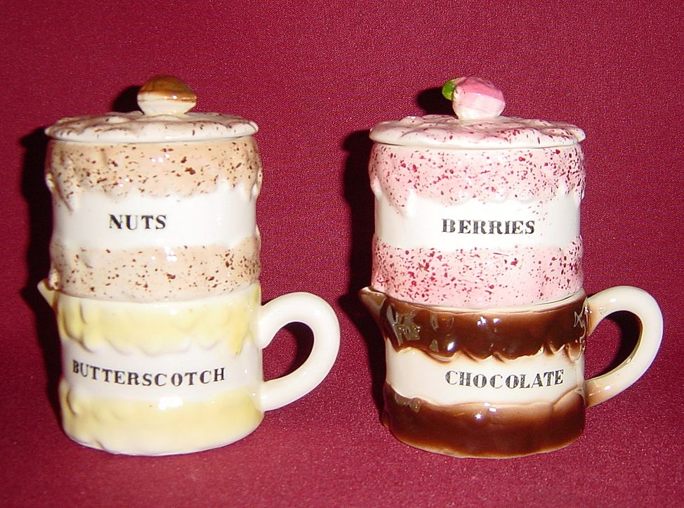Holt Howard Ice Cream Sundae Set