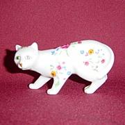 Franklin Mint Faience Curio Cabinet Cat