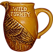 Austin Nichols Wild Turkey Advertising Water Pitcher