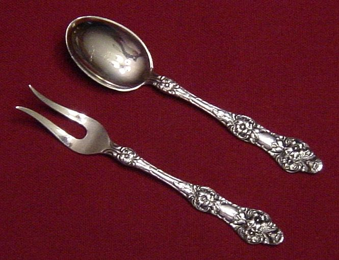 Th Marthinsen Silverplate Demitasse Spoon and Lemon Fork Set from Norway