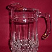 Beautiful Pressed Glass Water Pitcher