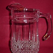 Beautiful Pressed Glass Water Pitcher